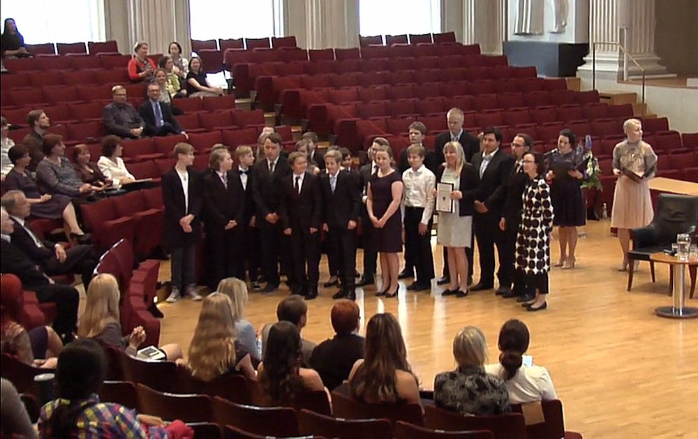 The Minister of Education of Finland Awarded Top Science Projects of Children And Youths in An International StarT Gala