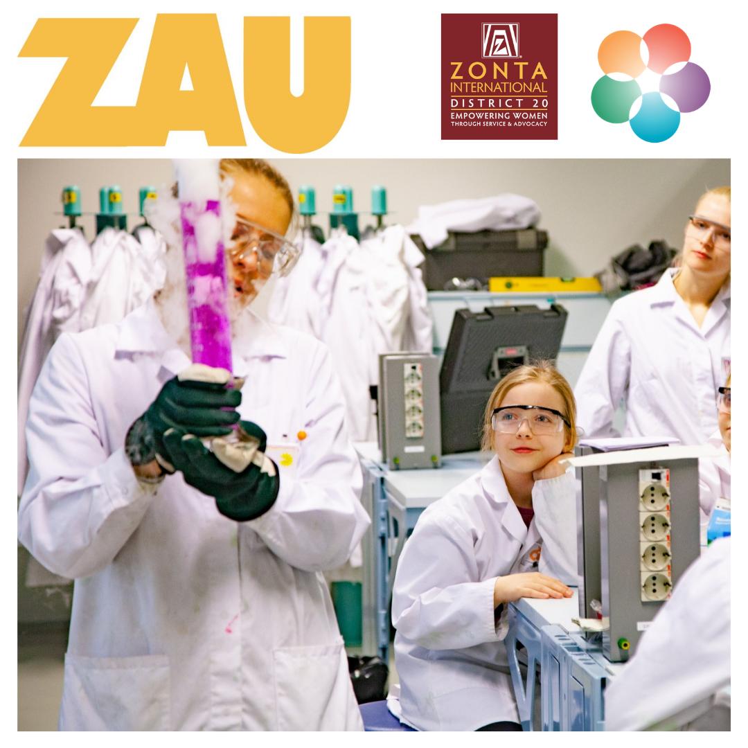 hiilidioksidijäätä koeputkessa lapsia ja opettaja laboratoriossa