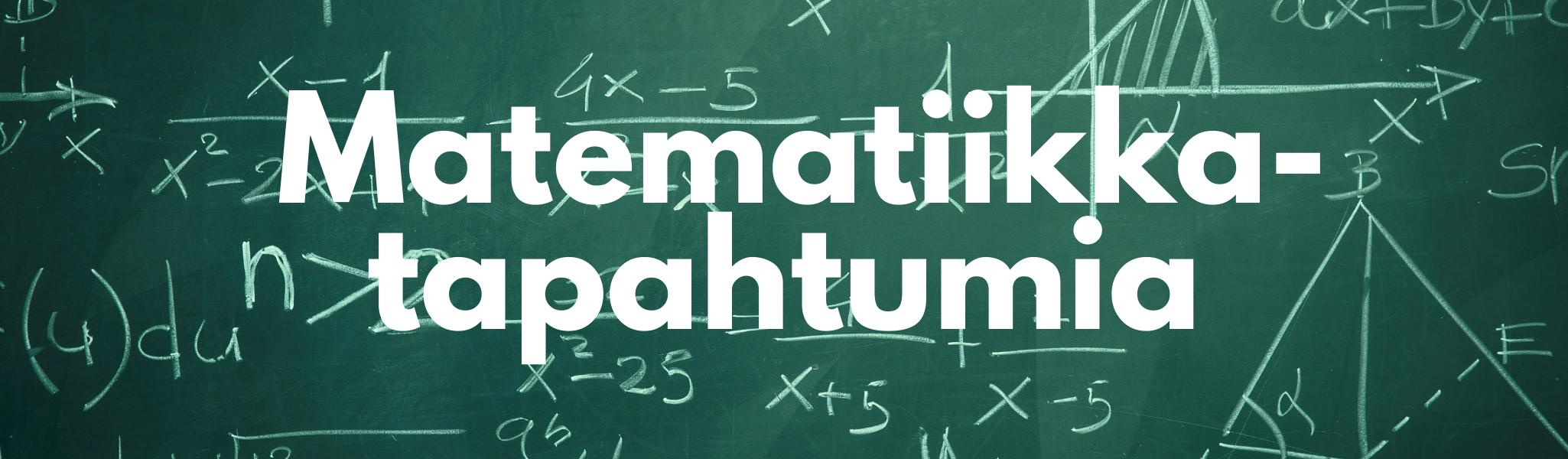 Matematiikkatapahtumia